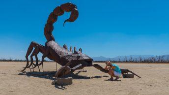 Anza-Borrego Desert, California, USA. Scorpion Statue. Ricardo Breceda Sculptures