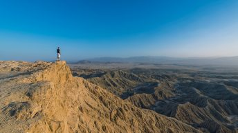 Anza-Borrego Desert, California, USA. Font's Point. Grand Desert View. Edge of the Cliff