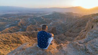 Anza-Borrego Desert, California, USA. Font's Point. Desert View at Sunset