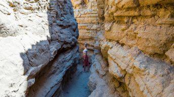 Anza-Borrego Desert, California, USA. Font's Point. The Slot Attraction