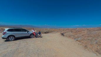 Anza-Borrego Desert, California, USA. Font's Point. Couple. Family at the Slot