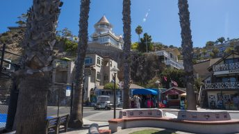 Catalina Island, Chanel Islands National Park, California, City View. City Street.