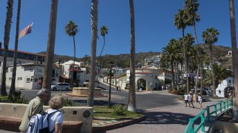 Catalina Island, Chanel Islands National Park, California, Street View. People Walking.