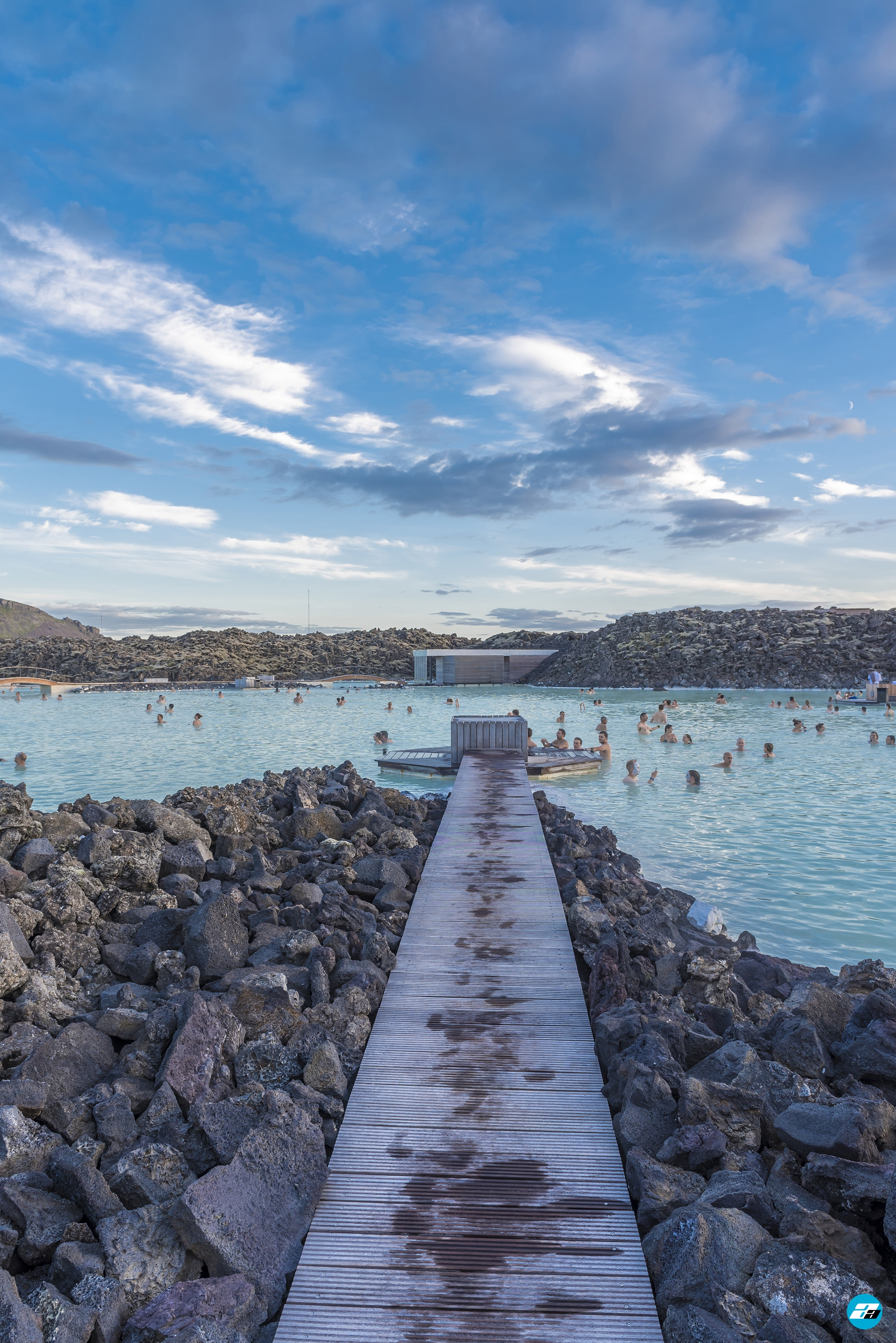 Iceland Travel, Ring Road, The Blue Lagoon, Grindavík. Thermal Baths. People Enjoying.