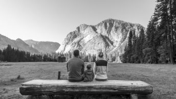 Yosemite National Park, California, USA. Landscape. Family. Mountain View.