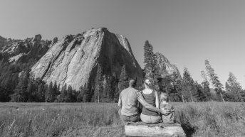 Yosemite National Park, California, USA. Landscape. Family. Solitude. Mountain View.