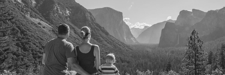Yosemite National Park, California, USA. Landscape. Family. Solitude. Mountain View. Glacier Point.