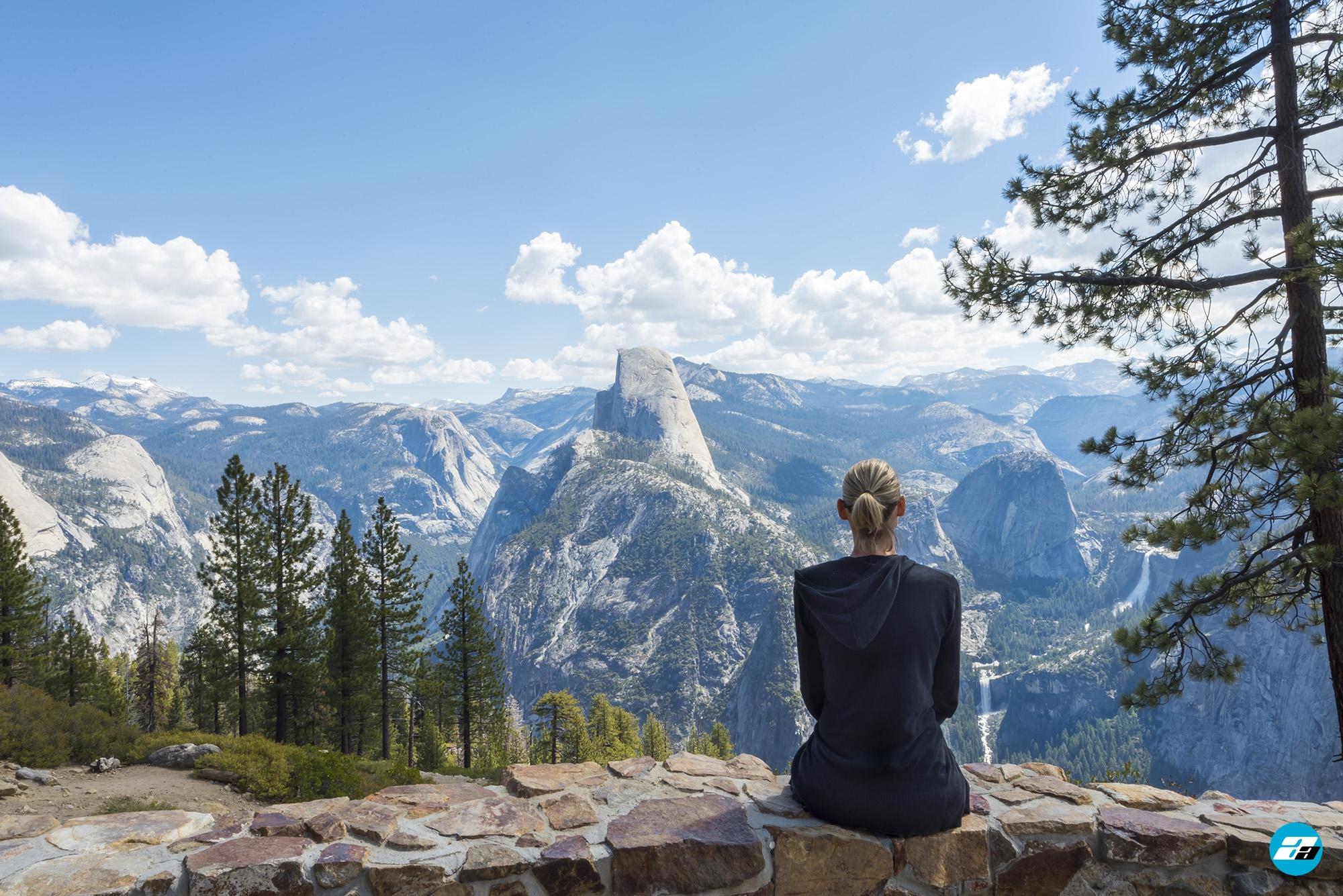 Yosemite National Park, California, USA. Landscape. Solitude. Mountain View. Glacier Point