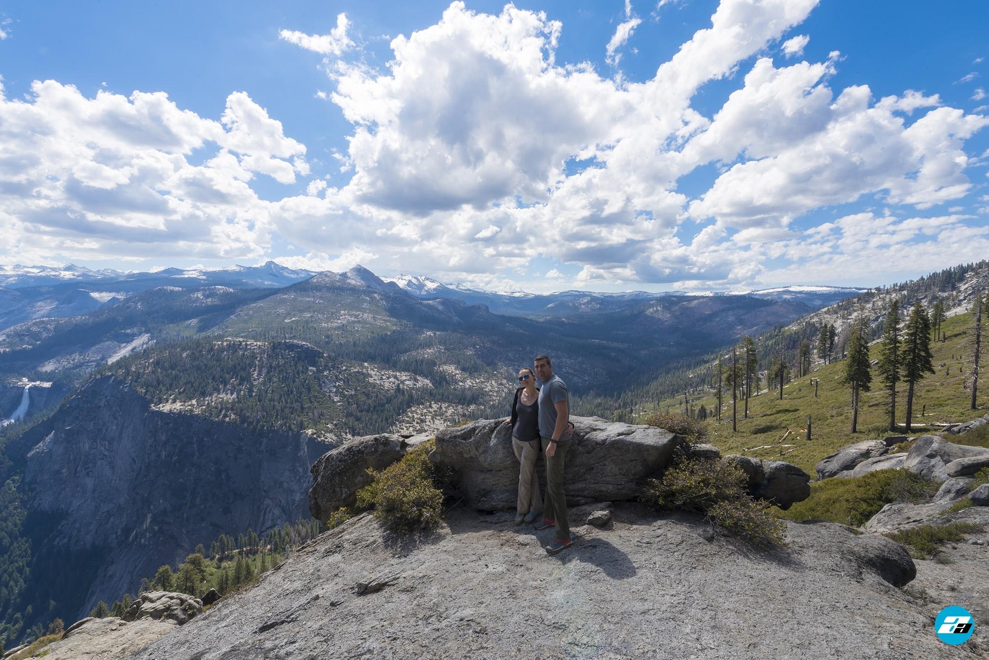 Yosemite National Park, California, USA. Landscape. Couple. Solitude. Mountain View. Glacier Point