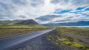 Iceland Travel, Ring Road. Mountain & Lake View.