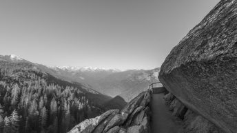 Sequoia National Park, California, USA. Moro Rock View. Scary climb.