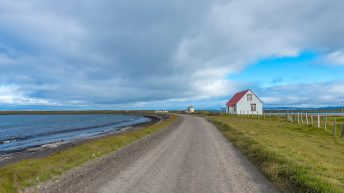 Iceland Travel, Ring Road. Road House. Long Road.