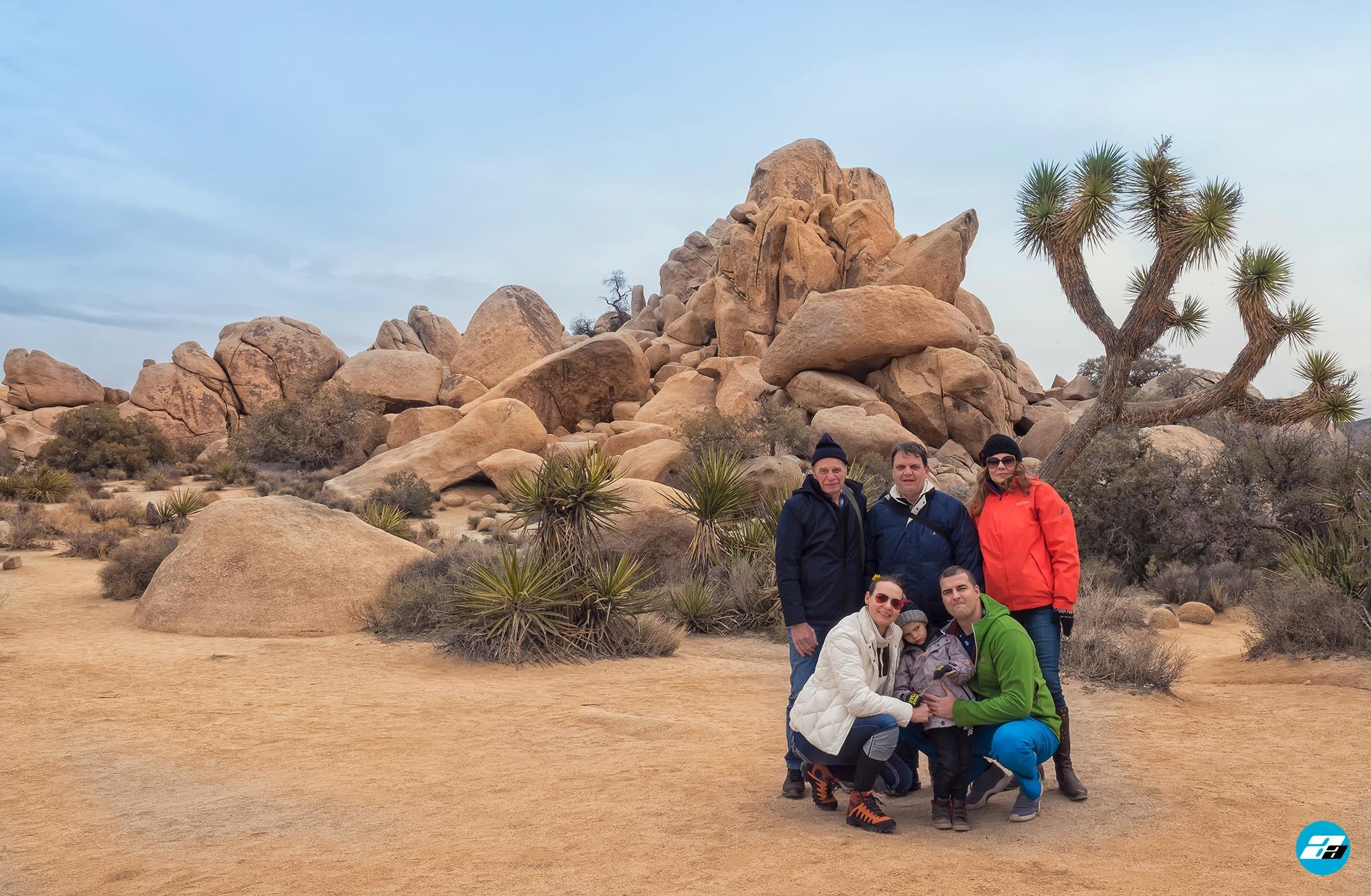 Joshua Tree National Park, California, USA. California Attraction & Travel. Family Photo.