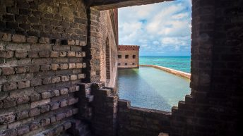 Dry Tortugas National Park FL USA. Fort Jefferson. Window view.