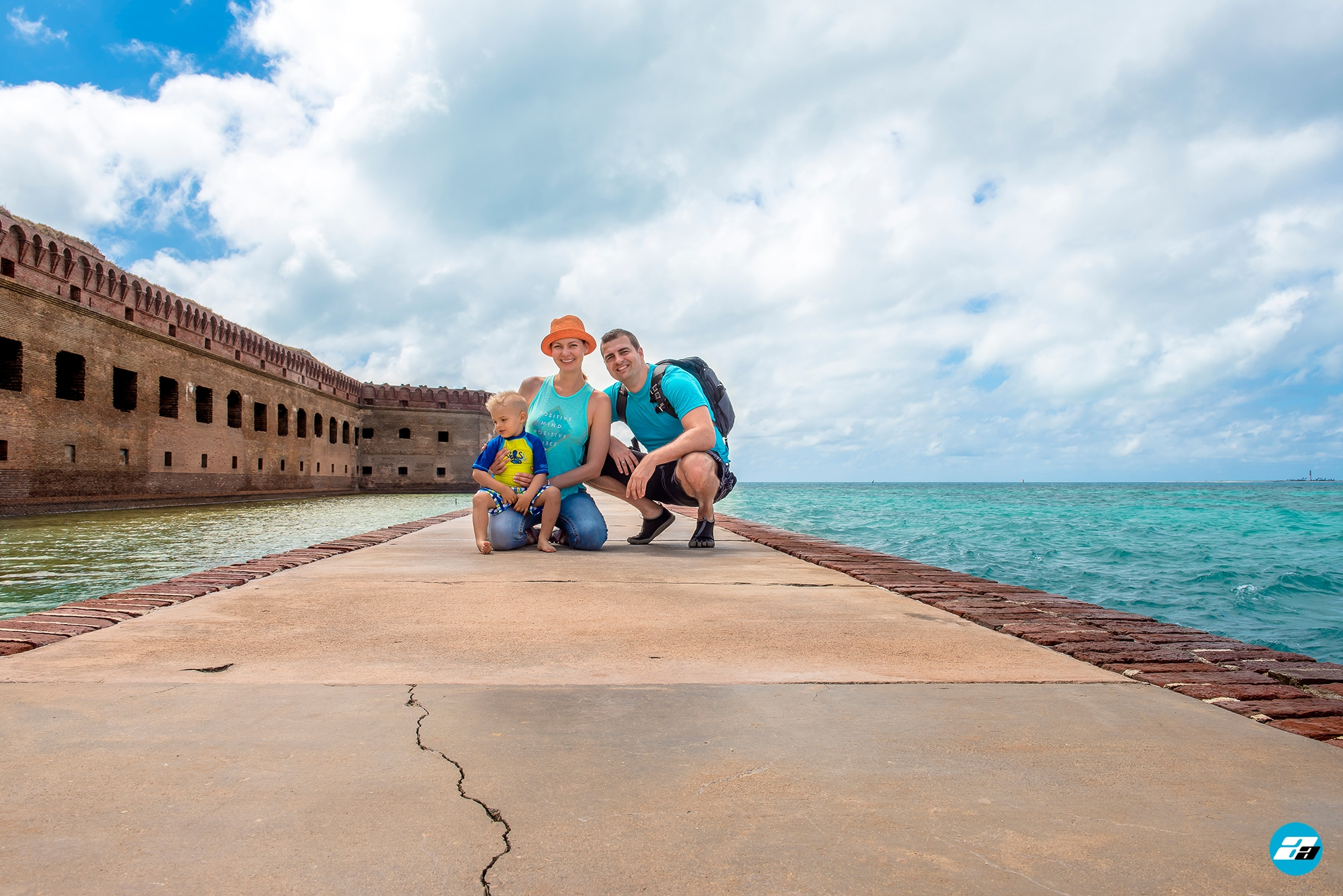 Dry Tortugas National Park FL USA. Fort Jefferson. Family adventure.