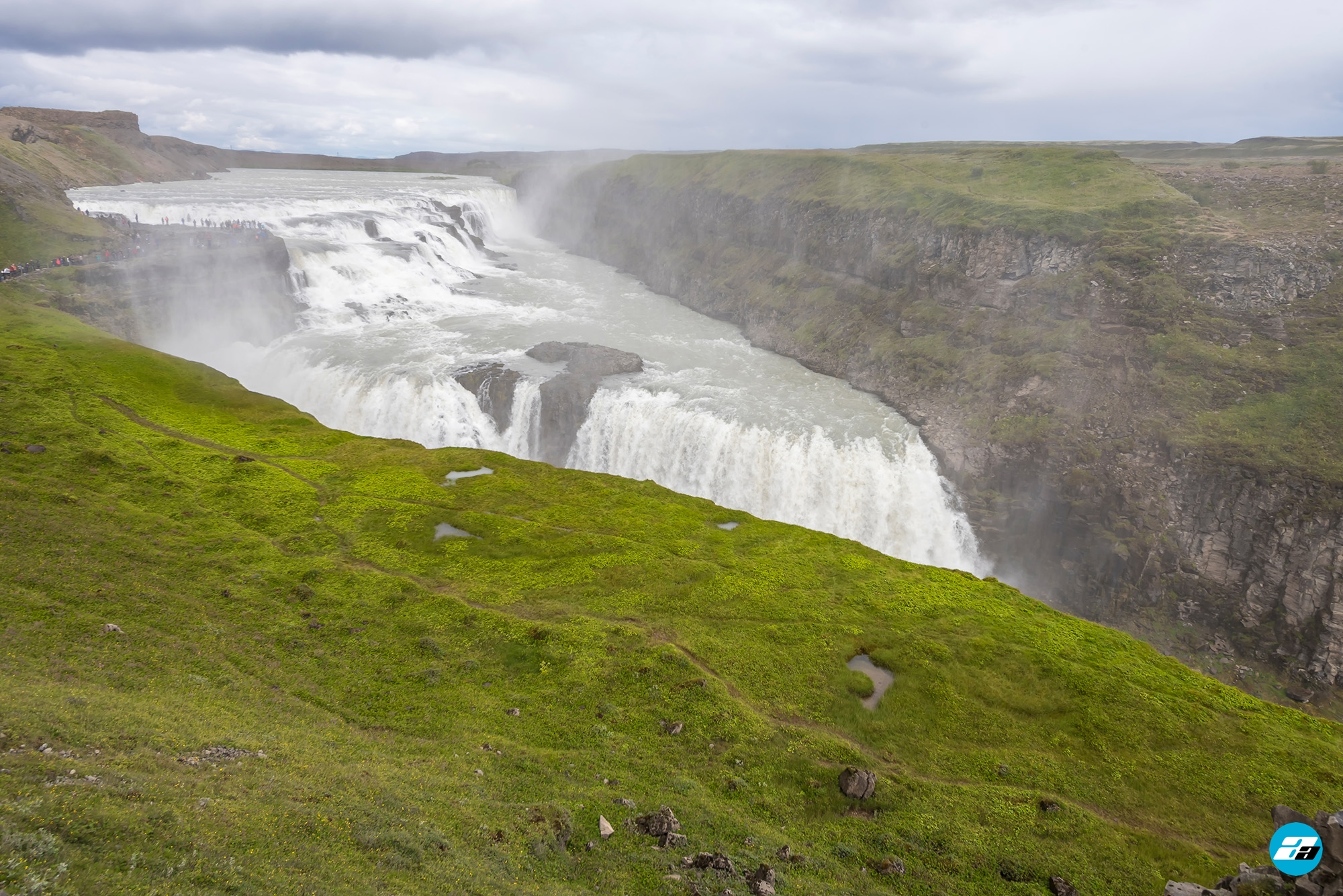 Iceland Travel, Ring Road, Gullfoss Waterfall