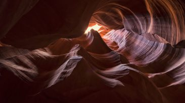 Antelope Canyon Arizona, USA. Arizona Attraction & Travel Destination. Most photographed canyon.
