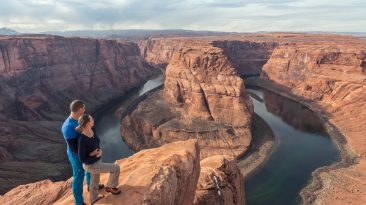 Horseshoe Bend, Arizona, USA. Family View. Great View. Family Trip. Together. Couple. Love. Town of Page.