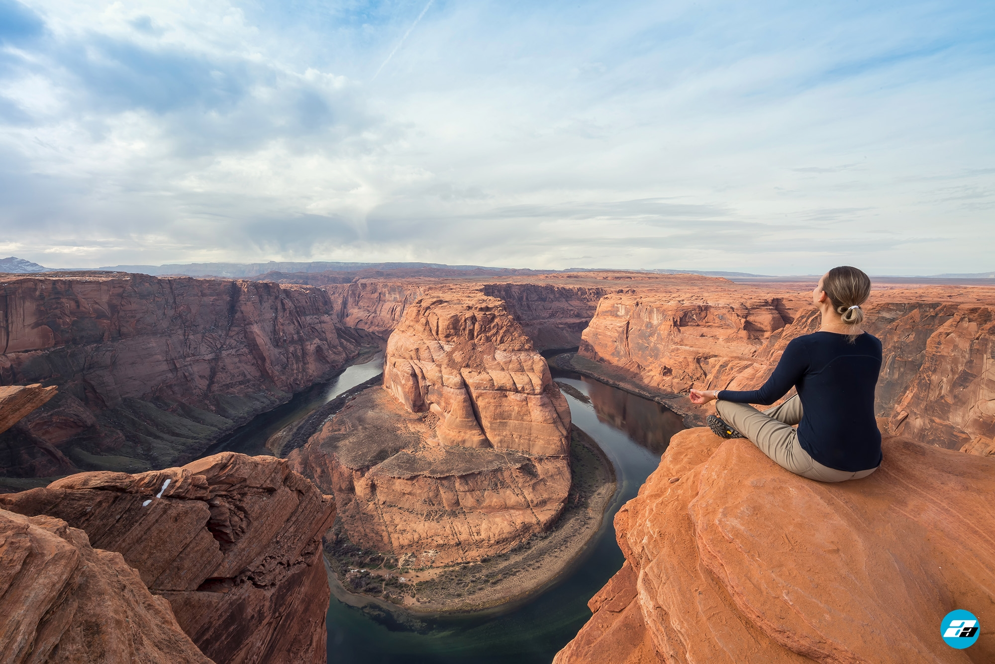 Horseshoe Bend, Arizona, USA. Yoga. Relaxing View. Town of Page.