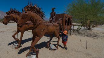 Anza-Borrego Desert, California, USA. Metal Carriage Sclupture