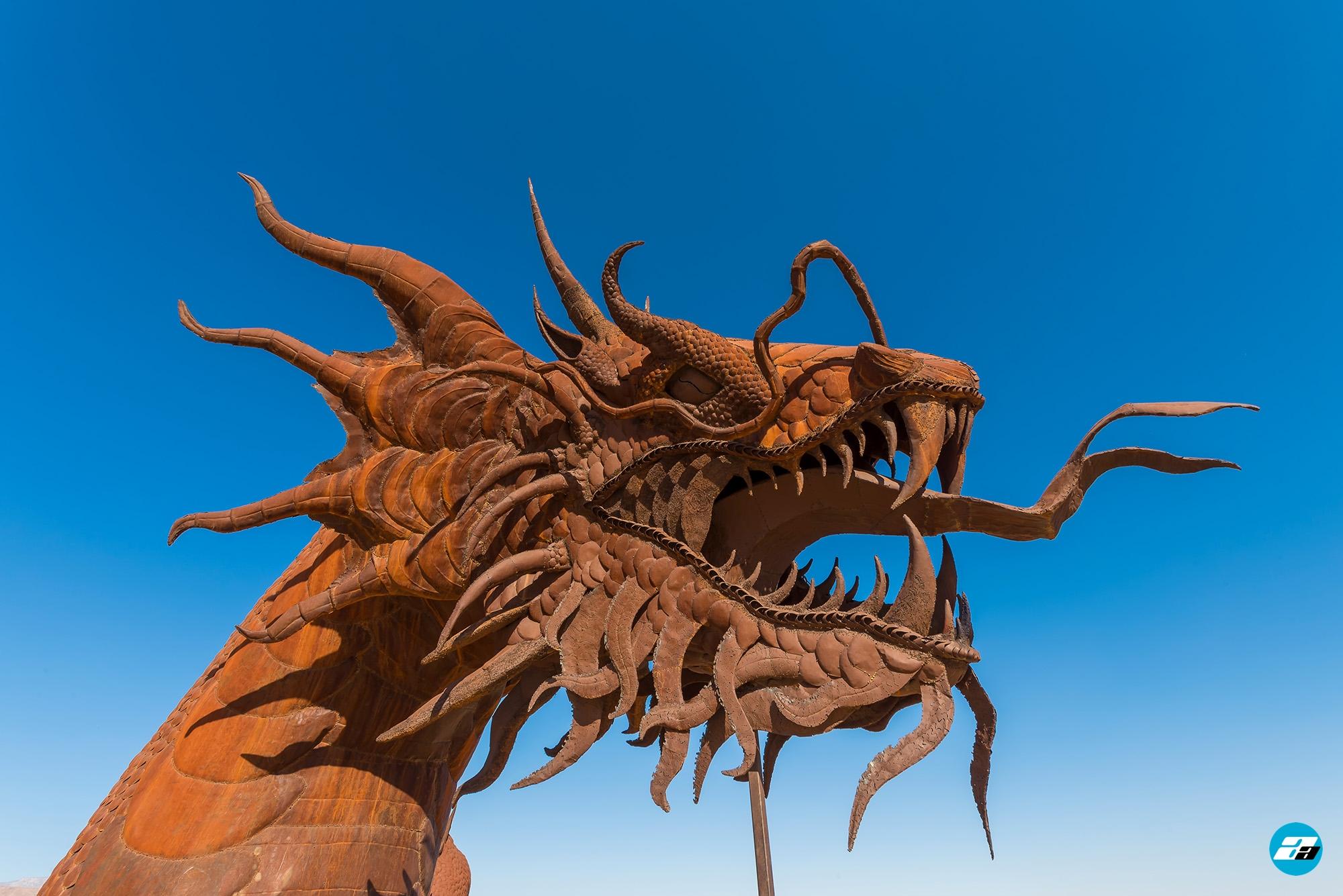 Anza-Borrego Desert, California, USA. Metal Serpent / Dragon. Ricardo Breceda Sculptures