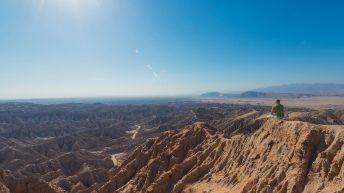 Anza-Borrego Desert, California, USA. Font's Point. Grand Desert View. Edge of the Cliff. Explorer. Solitude.