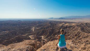 Anza-Borrego Desert, California, USA. Font's Point. Grand Desert View