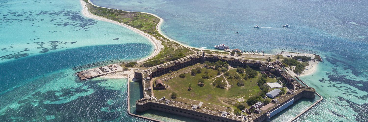 Dry Tortugas National Park FL USA. Fort Jefferson. Aerial View