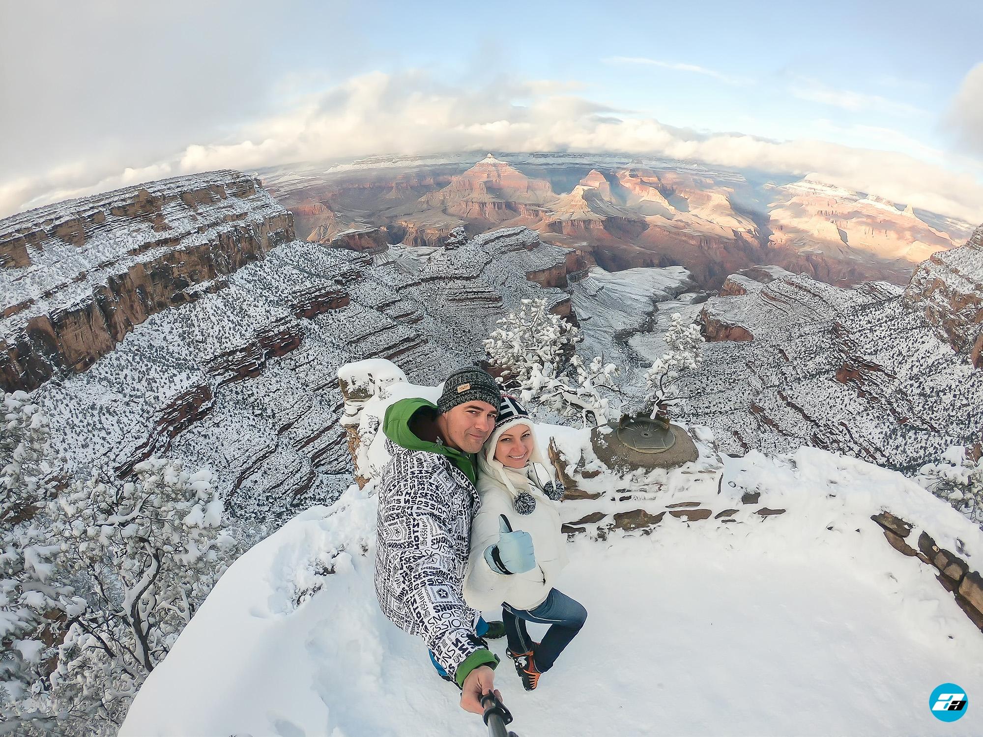 Arizona, USA. Canyon View. Family. Couple. Explorers. Winter Season. Arizona Attraction & Travel.