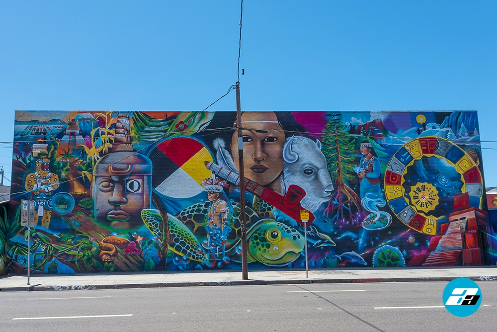 LA Arts District, Los Angeles California. Graffiti Art
