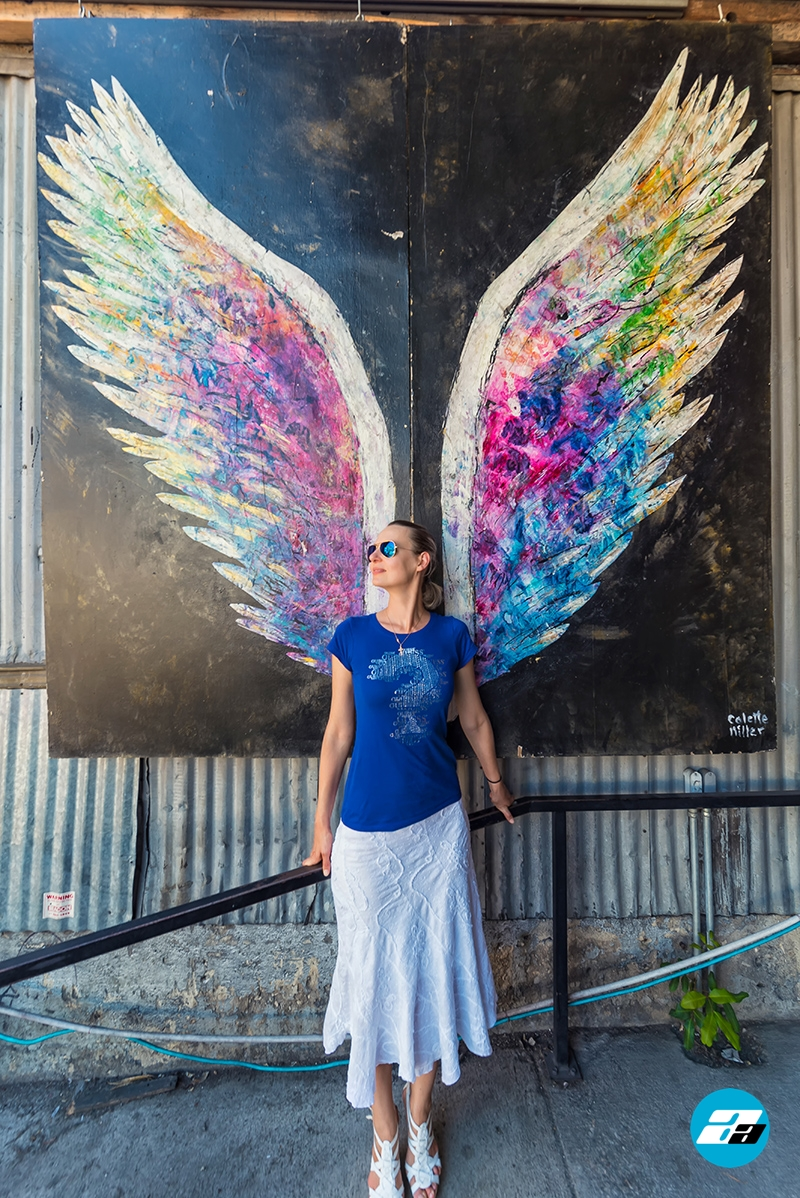 LA Arts District, California, Graffiti Art, Wings