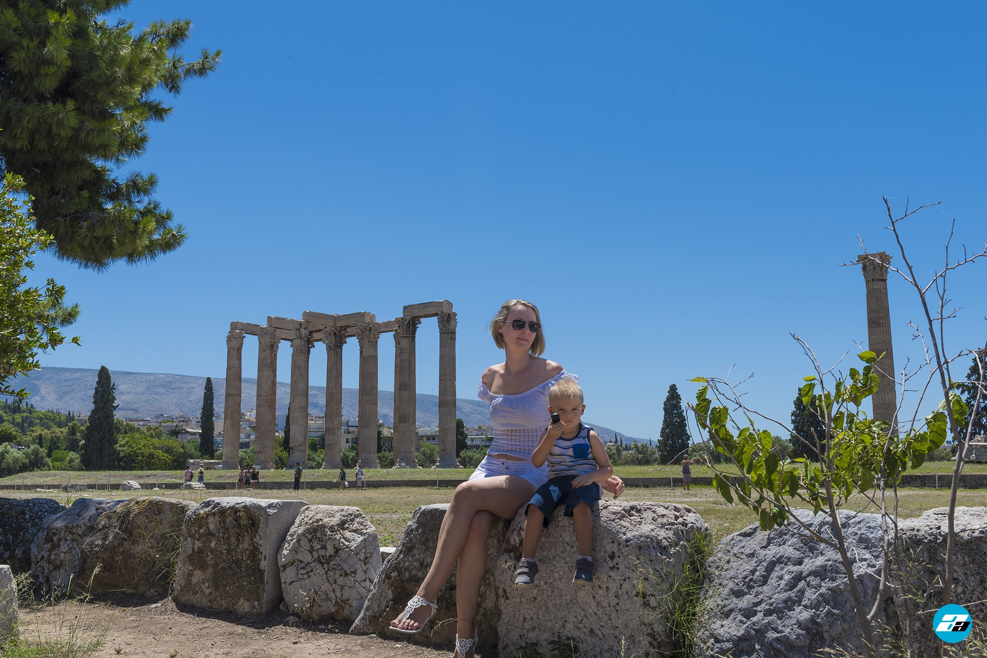 Temple of Olympian Zeus. Athens Greece