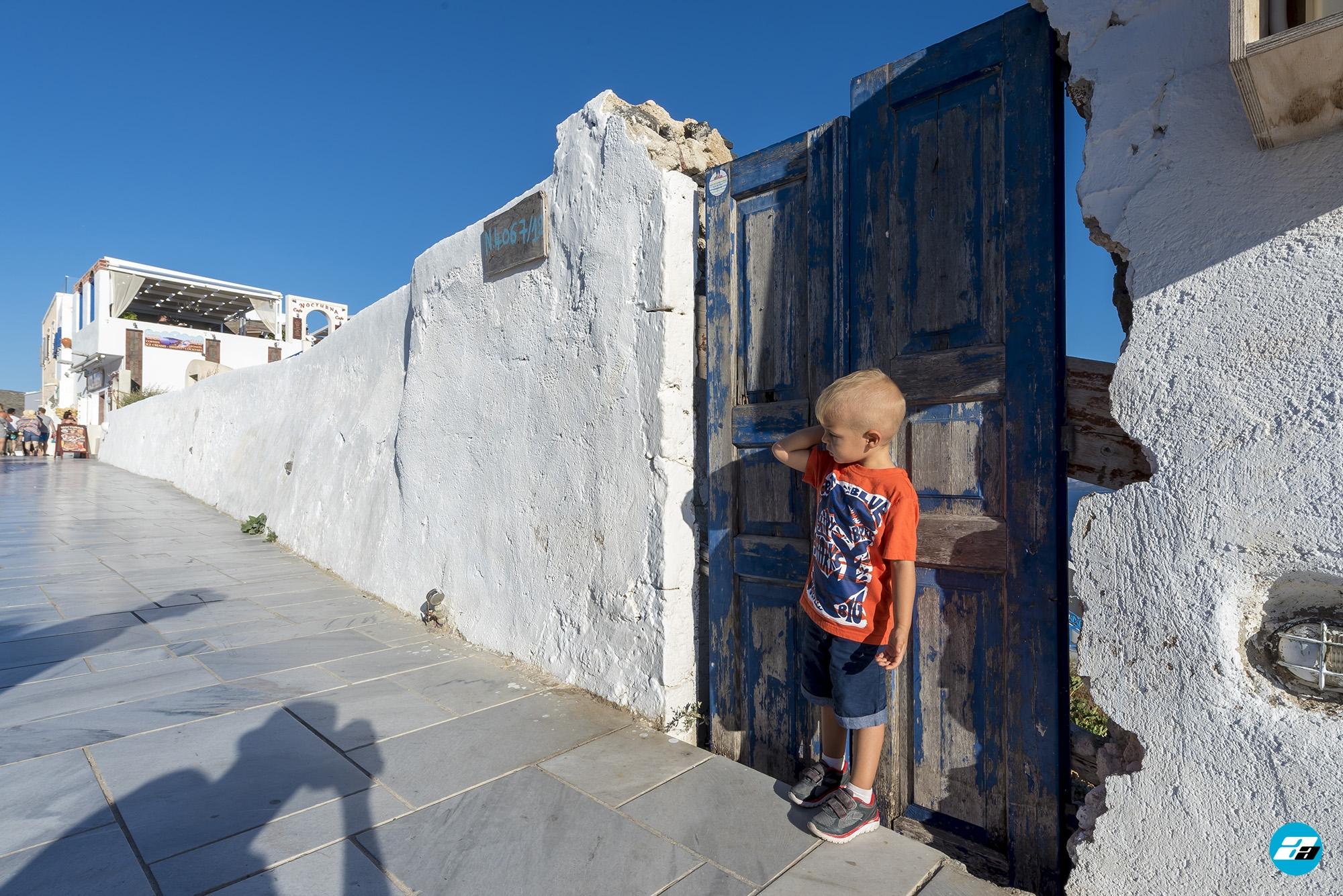 Oia Santorini Greece. Child.