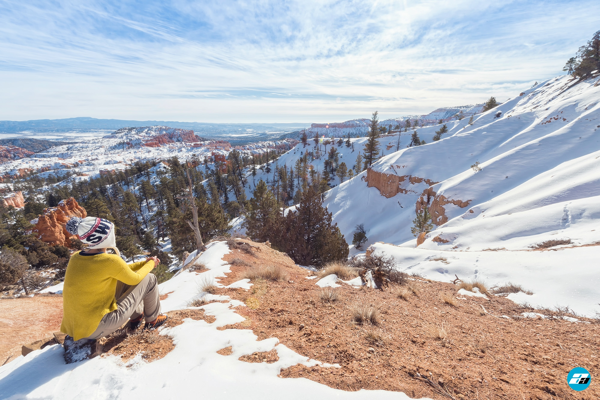 Bryce Canyon National Park, Utah, Arizona. View Point. Snow View. Winter Season.