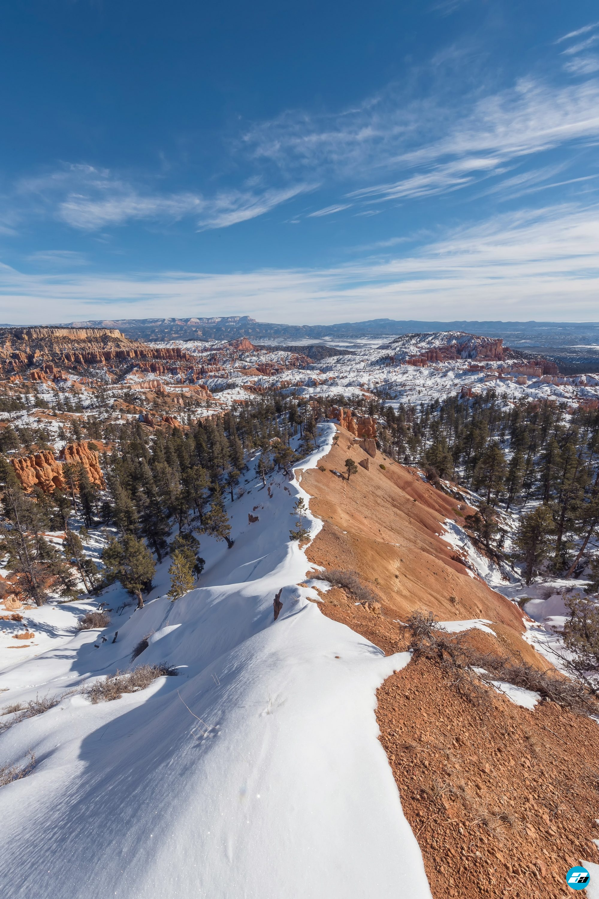 Bryce Canyon National Park, Utah, Arizona. View Point. Snow View. Valley View. Winter Season.