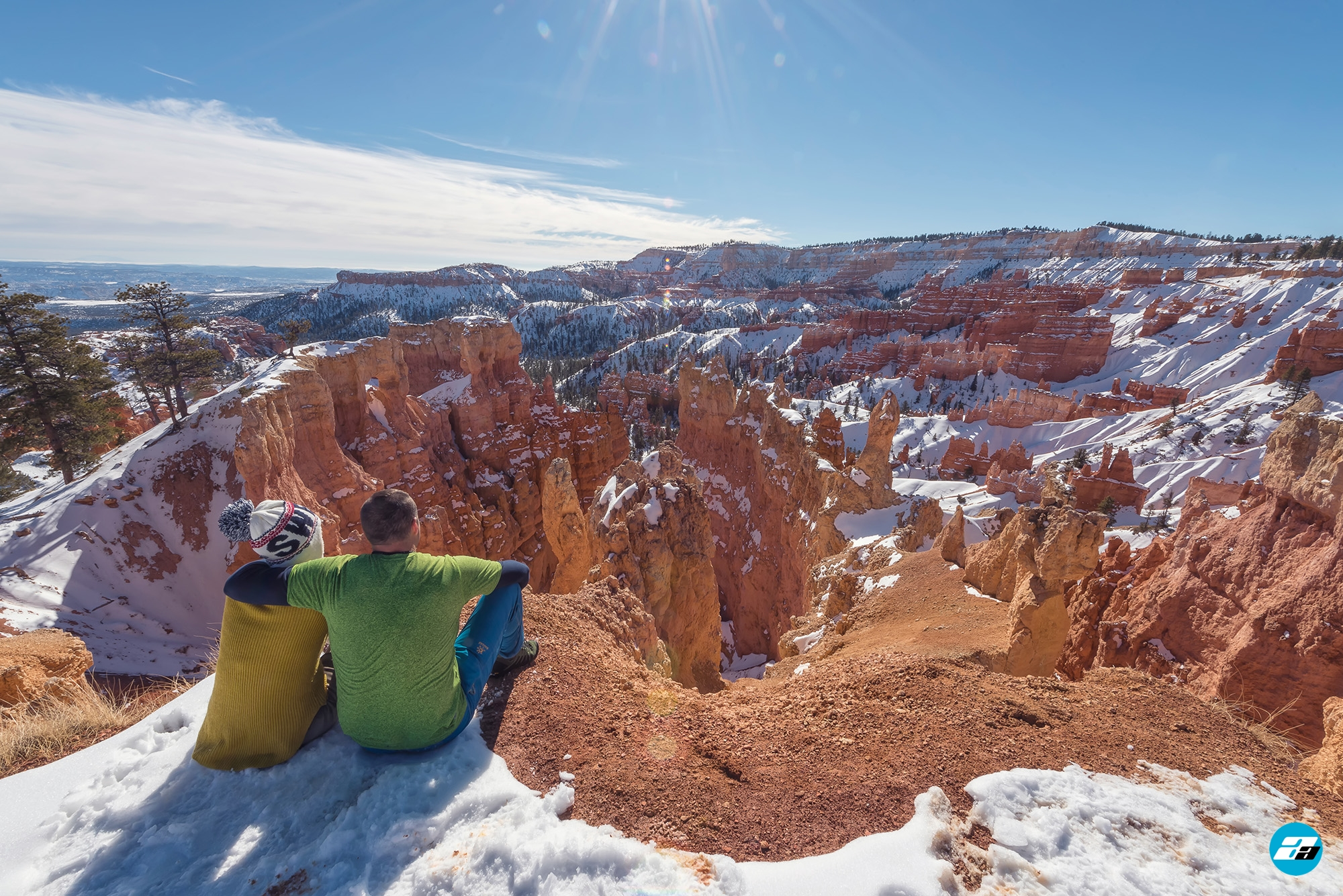 Bryce Canyon National Park, Utah, Arizona. View Point. Family. Together View. Canyon View. Winter Season.