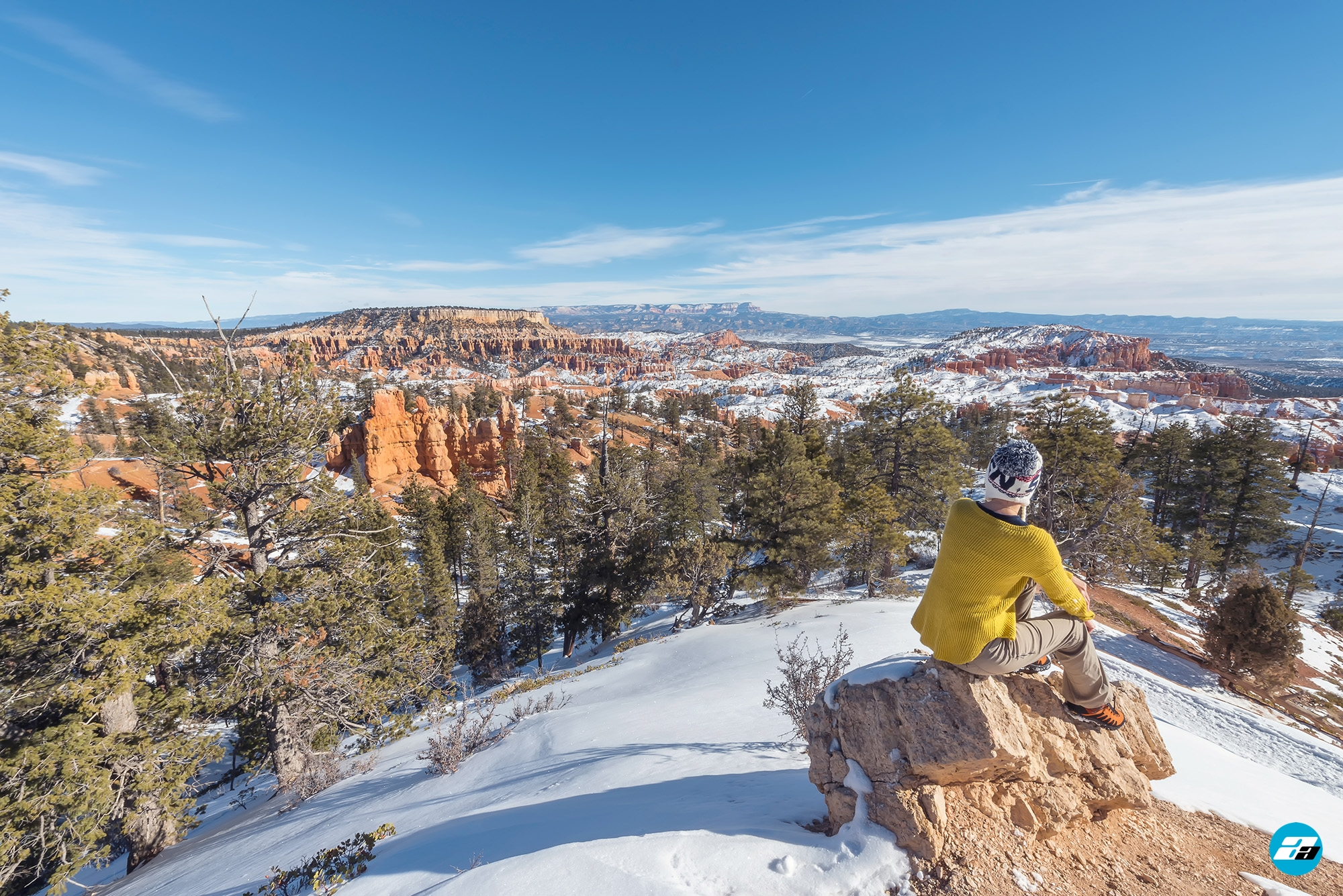 Bryce Canyon National Park, Utah, Arizona. Snow View. View Point.