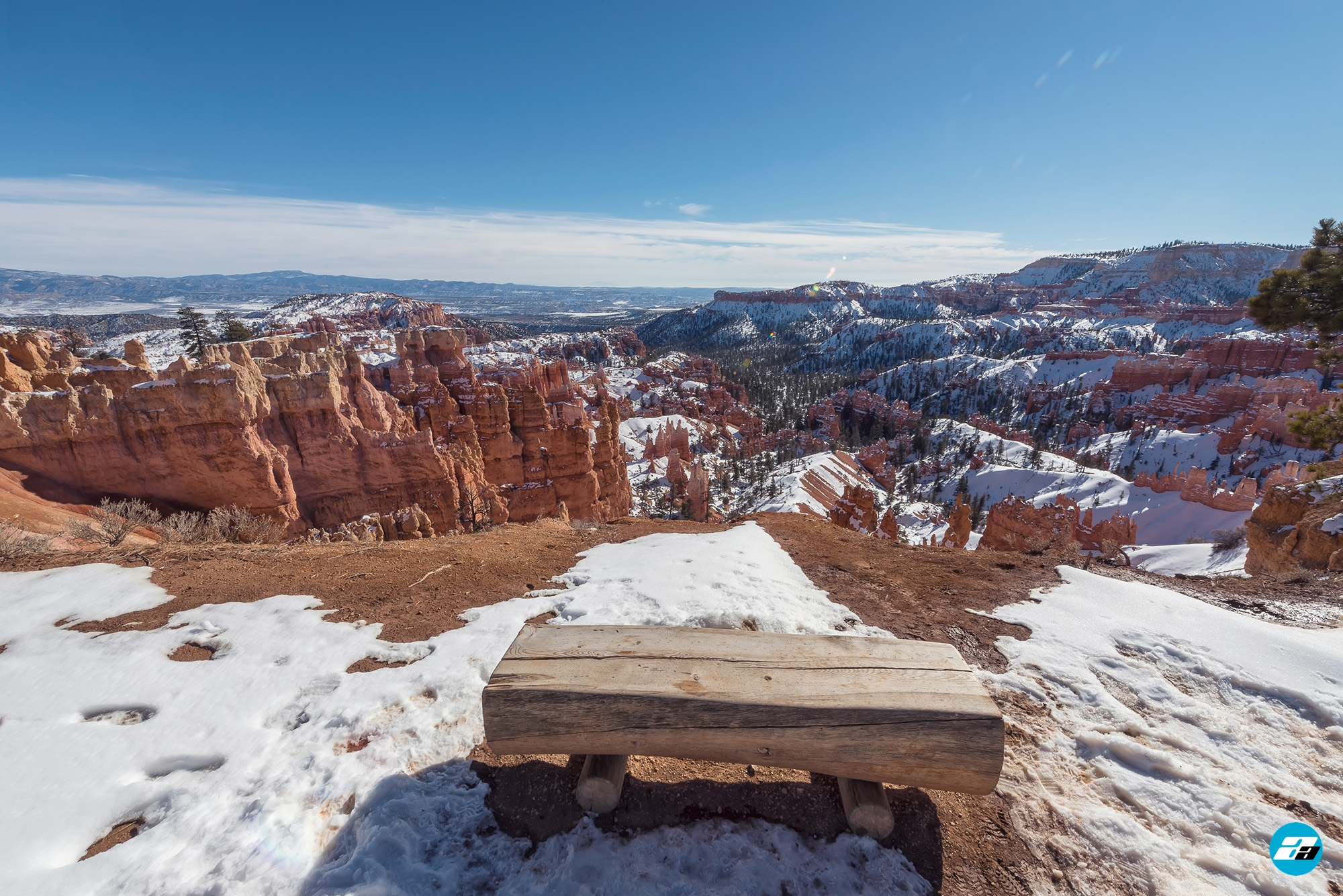 Bryce Canyon National Park, Utah, Arizona. Bench View