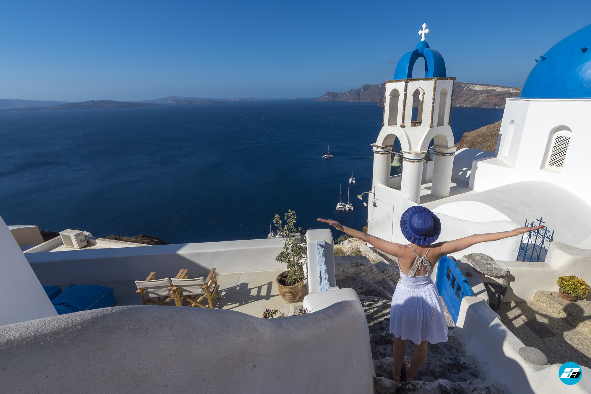 Oia Santorini Greece. Blue Domes. Santorini Travel.