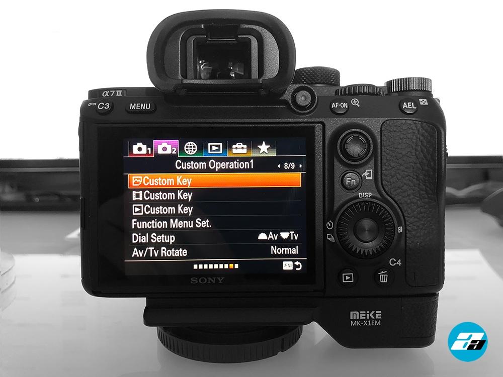 Sony A7III Custom Operation1 menu