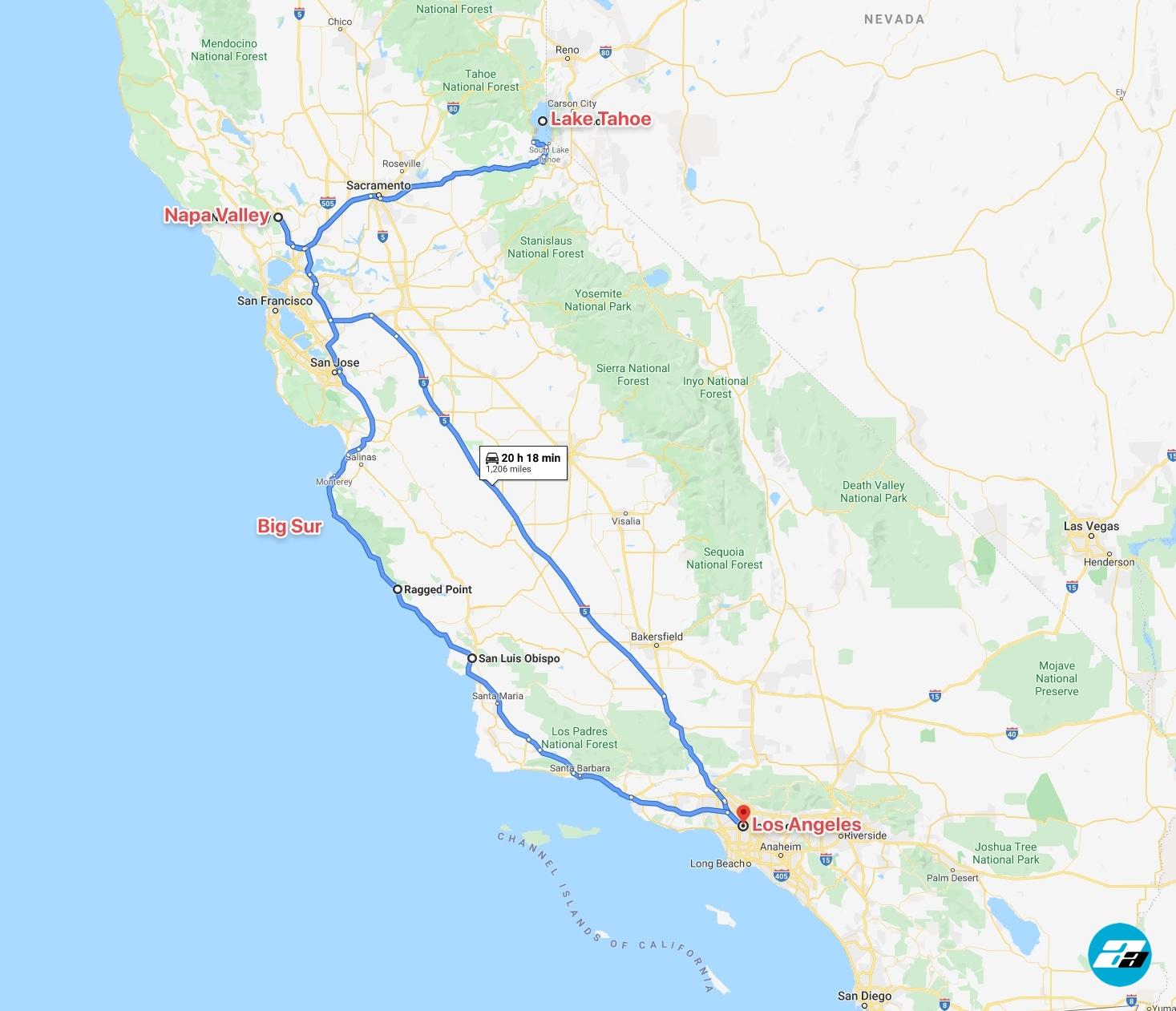 Road Trip, CA